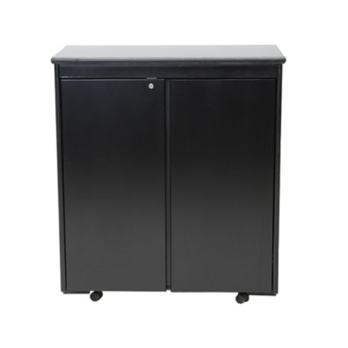 286BK Astonia High Lockable Cupboard Black