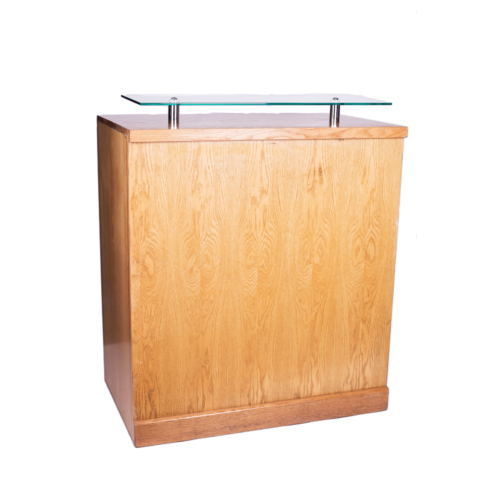 301 Reg Unit Natural with Glass Shelf