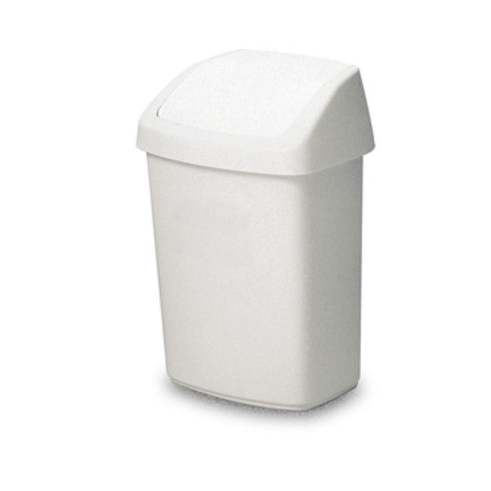 338 Fliptop Bin White