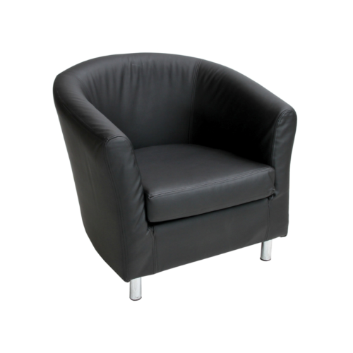 610BK Swedish Tub Chair Black