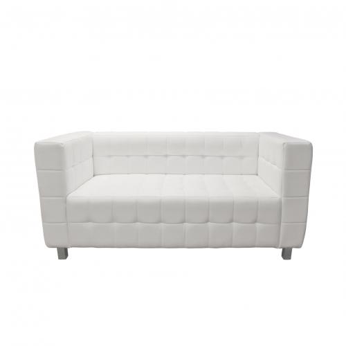 750WE Kubus White Leather Sofa