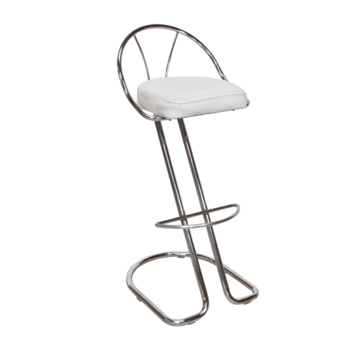 AS166WE Siegar Stool with White Back