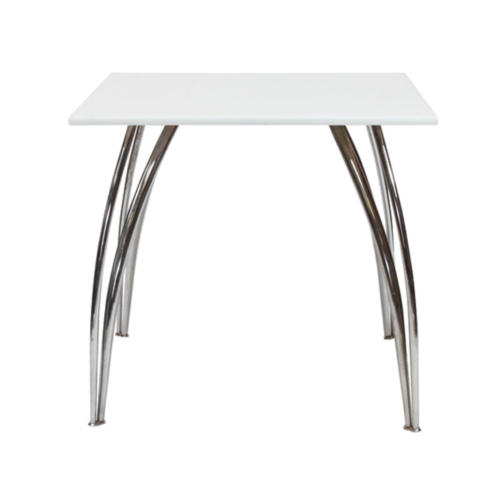 AS528WEA Arizona Square Table White
