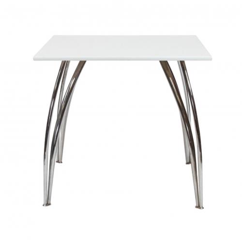 AS528WEA Arizona Square Table White