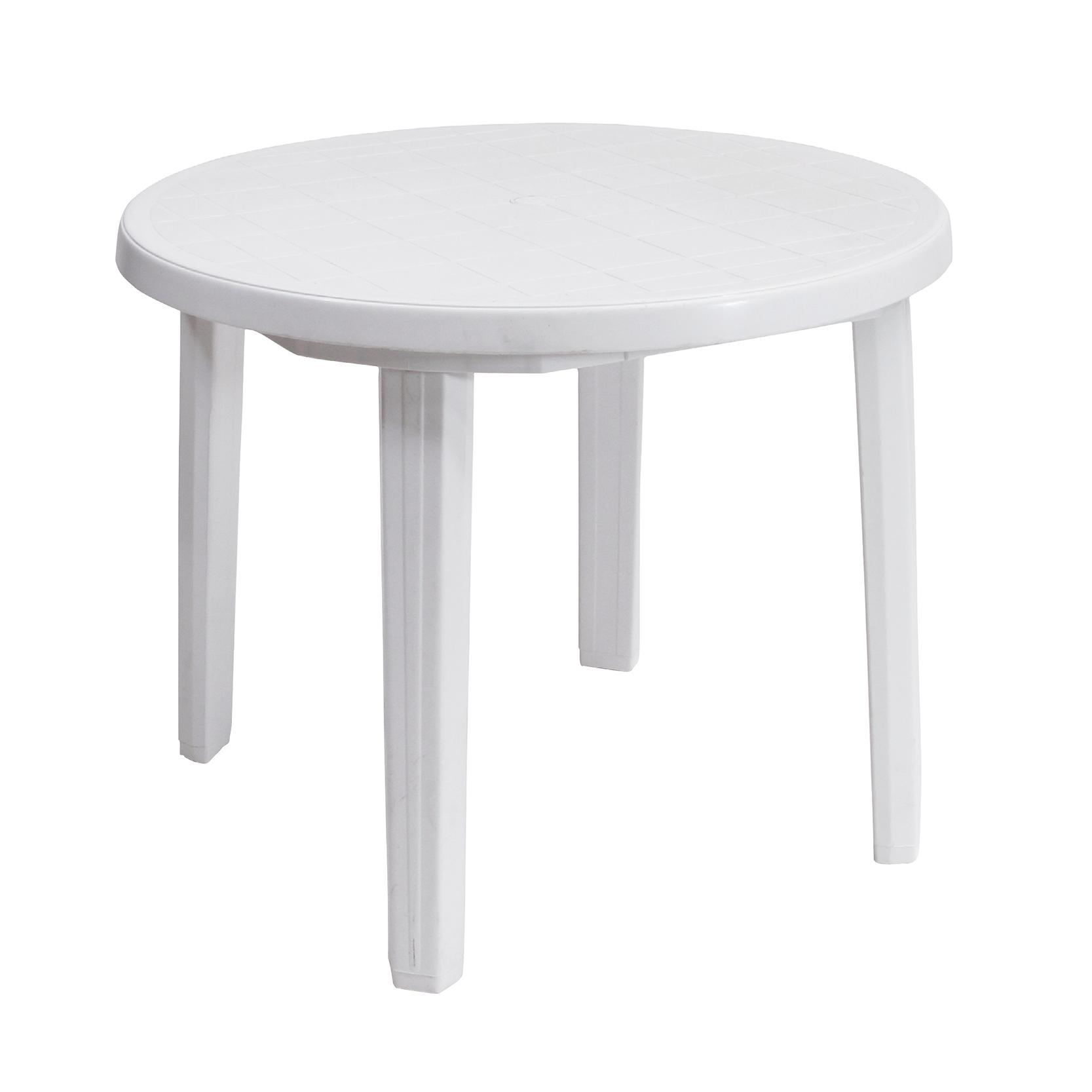 E113C Malibu Plastic Table White