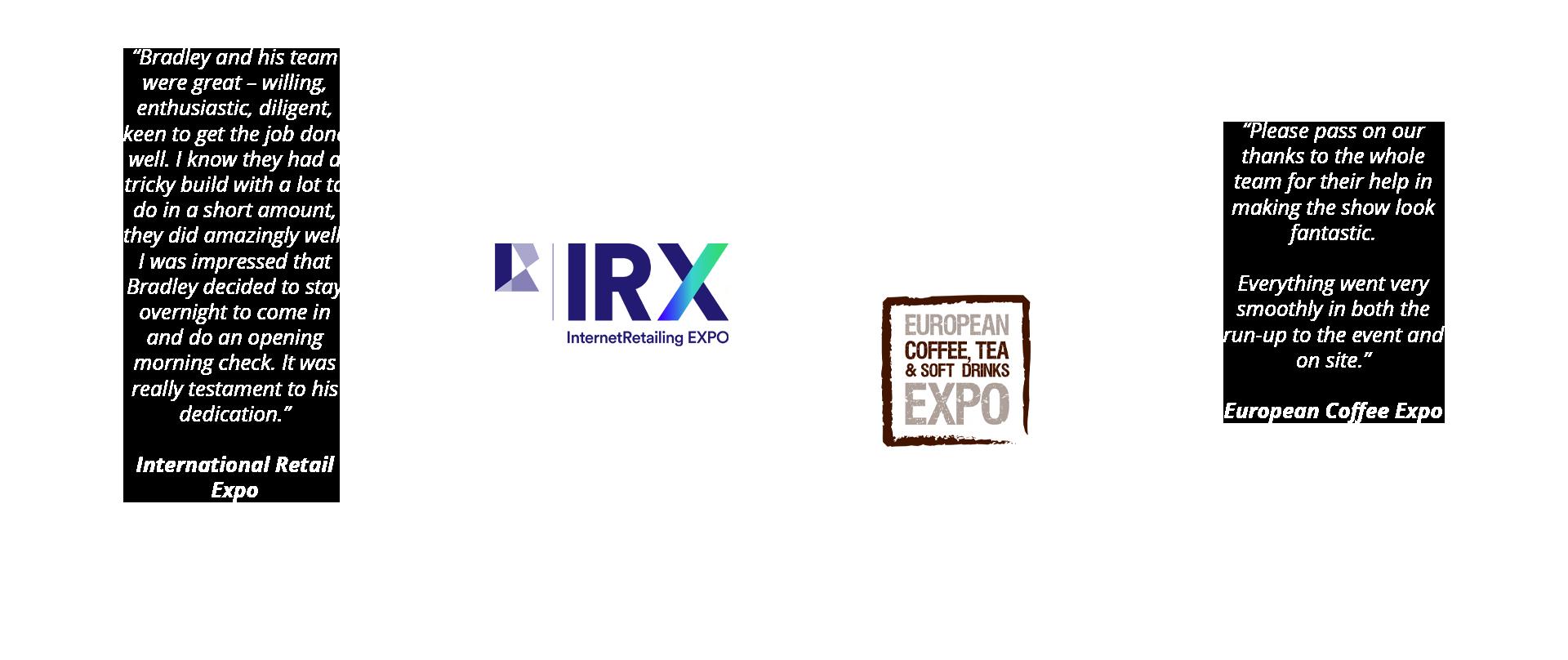 International Retail Expo and European Coffee Expo Testimonials