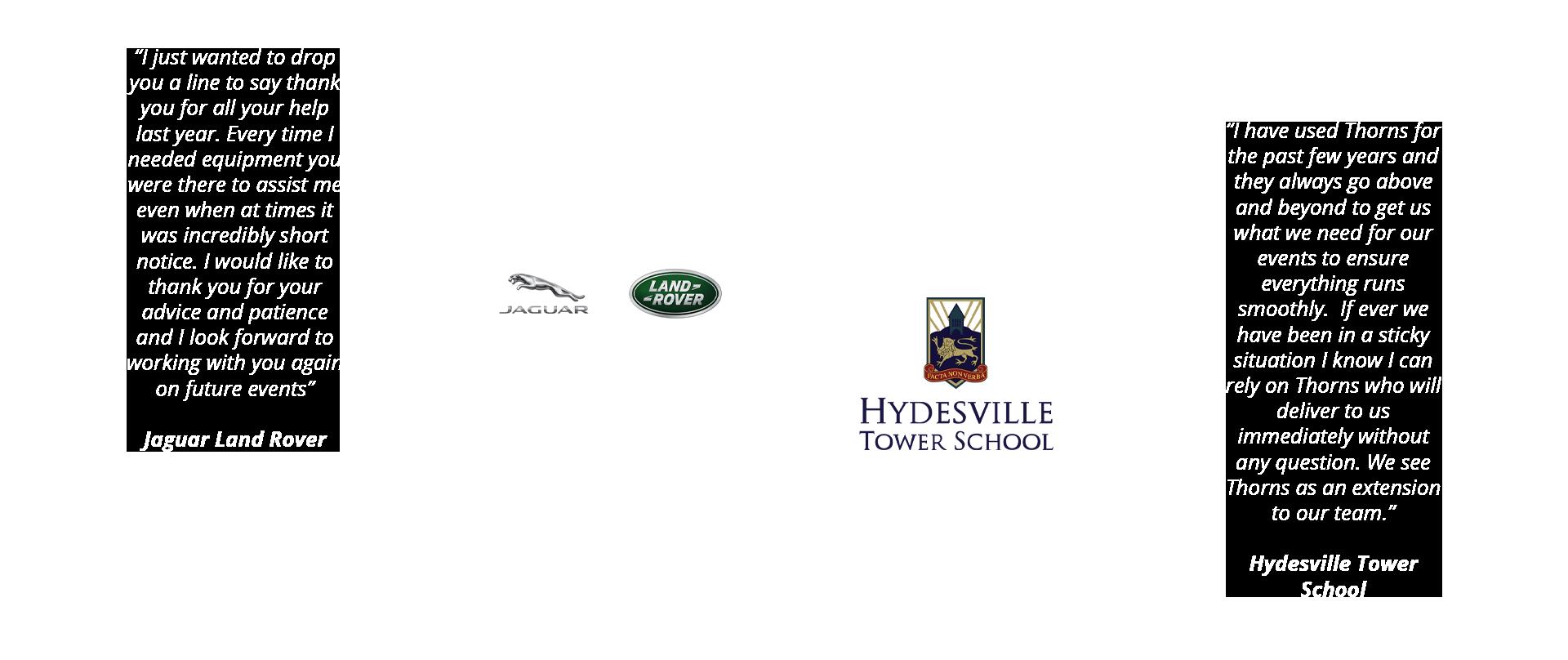 Jaguar Landrover Hydesville Tower School Testimonials