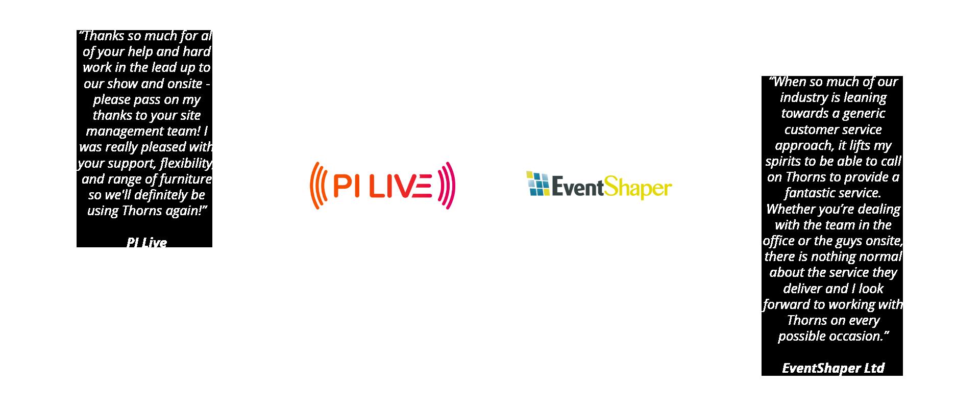 PI Live and Event Shaper Testimonials