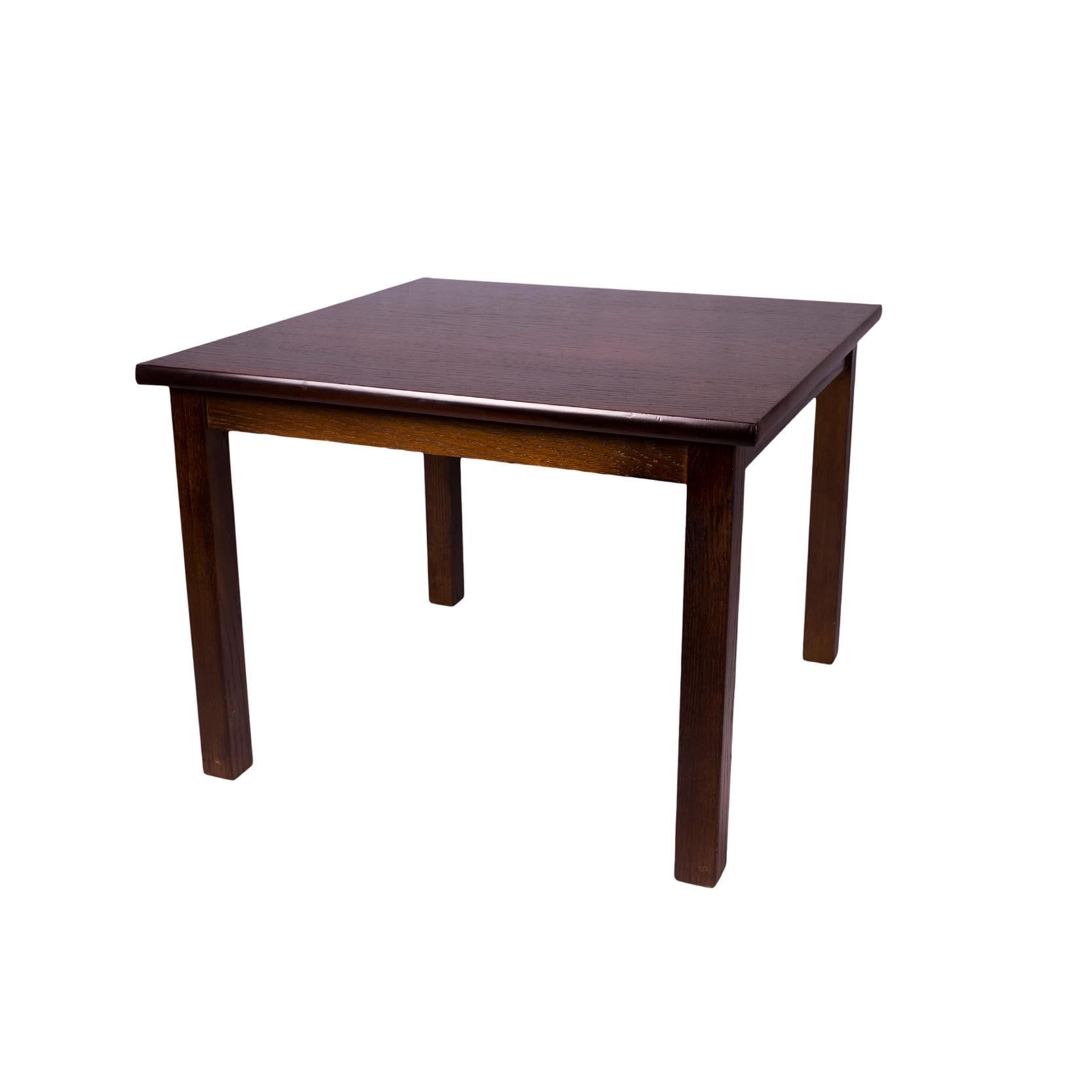 Dark Oak Square Coffee Table Thorns Group
