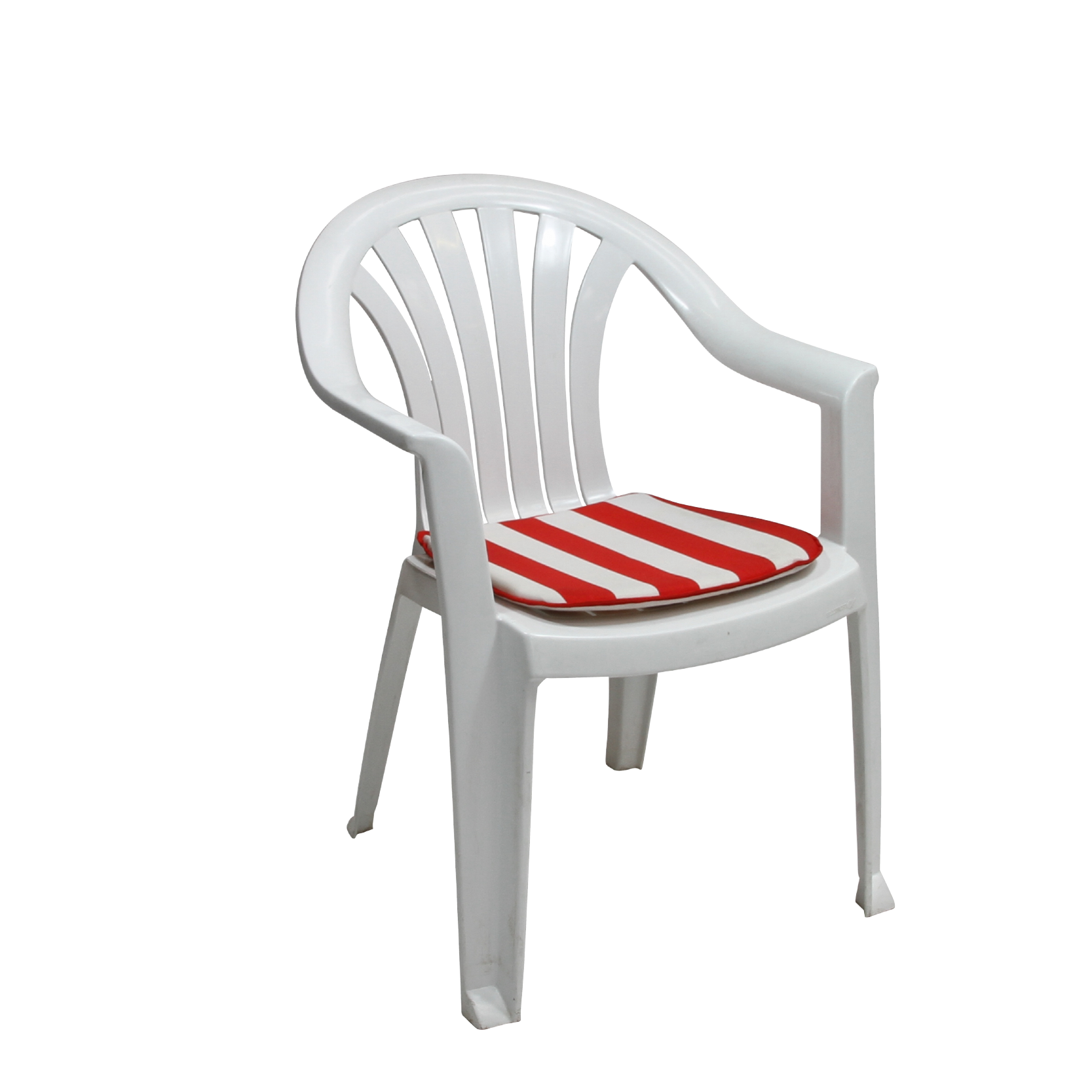 Lola Plastic Patio Chair White