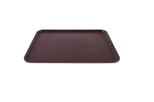 "18x13"" brown laminated tray"