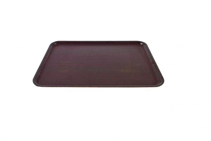 "18x13"" brown laminated tray"