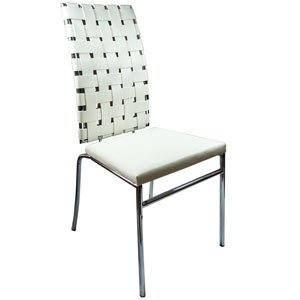 Webb leather chair white