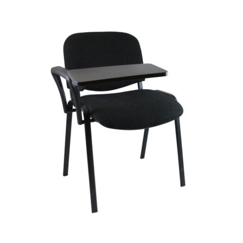 Linking Chair with Writing Tablet Black